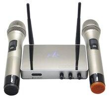 K5 Профессиональный UHF Беспроводной V4.0 микрофон семейный домашний автомобильный караоке система эхо пение микрофон коробка караоке плеер