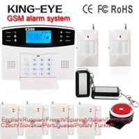 Russian French Spanish Voice 433 MHz Wireless Quad Band GSM PSTN Telephone Sms Remote Control Home