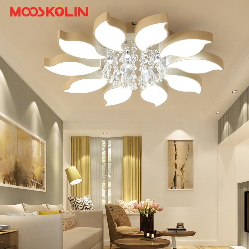New design flowers shape led chandelier lights for living room bedroom surface mounted led avize modern chandelier lighting