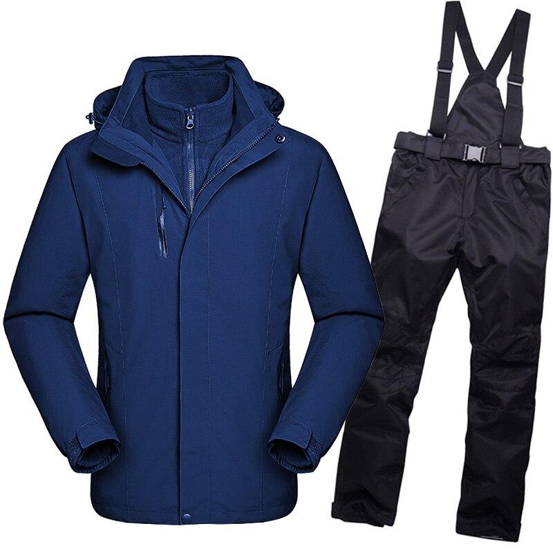 CCIVICFREE Winter Ski Suit Men Outdoor Ski Jacket And Pants Snow Warm Waterproof Windproof Skiing And Snowboarding Suits