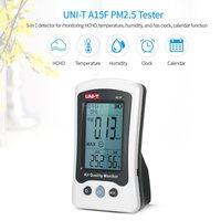 UNI T A15F جودة الهواء رصد الفورمالديهايد الكاشف تستر متر درجة الحرارة مقياس الرطوبة قابلة للشحن HCHO الغاز محلل-في أجهزة تحليل الغاز من أدوات على