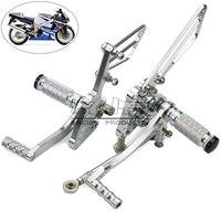 Bj moto rcycle moto Racing GSXR1000 подножка Регулируемые задние Rearset комплект для ног для Suzuki gsx r 1000 2005 2006 moto rbike