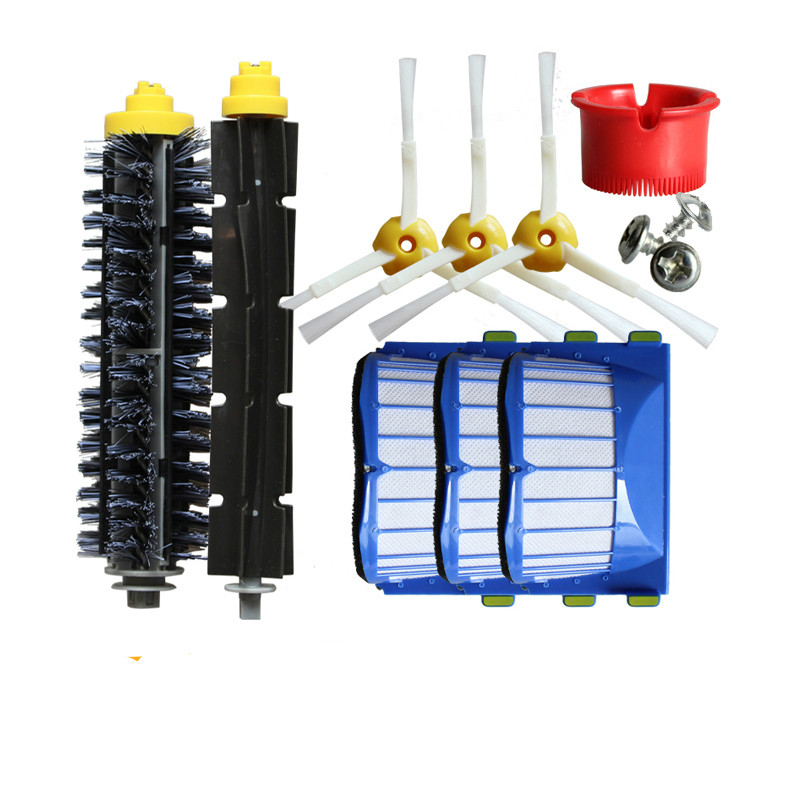 A set 600 Series Accessories 529 610 620 650 Brush Hepa Filter For Irobot Roomba Vacuum Cleaner bristle brush flexible beater brush fit for irobot roomba 500 600 700 series 550 650 660 760 770 780 790 vacuum cleaner parts