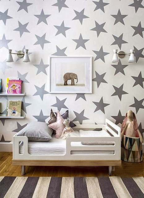 30 Pieces Stars Wall Sticker Diy Home Decal Removable Star Wall Decoration For Kids Room Wall