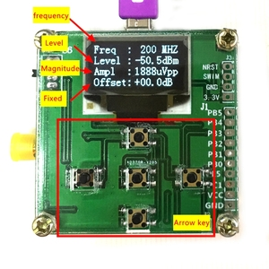 Image 5 - OLED display RF power meter 0 500Mhz  80 ~ 10dBm can set RF power attenuation value digital meter free shipping
