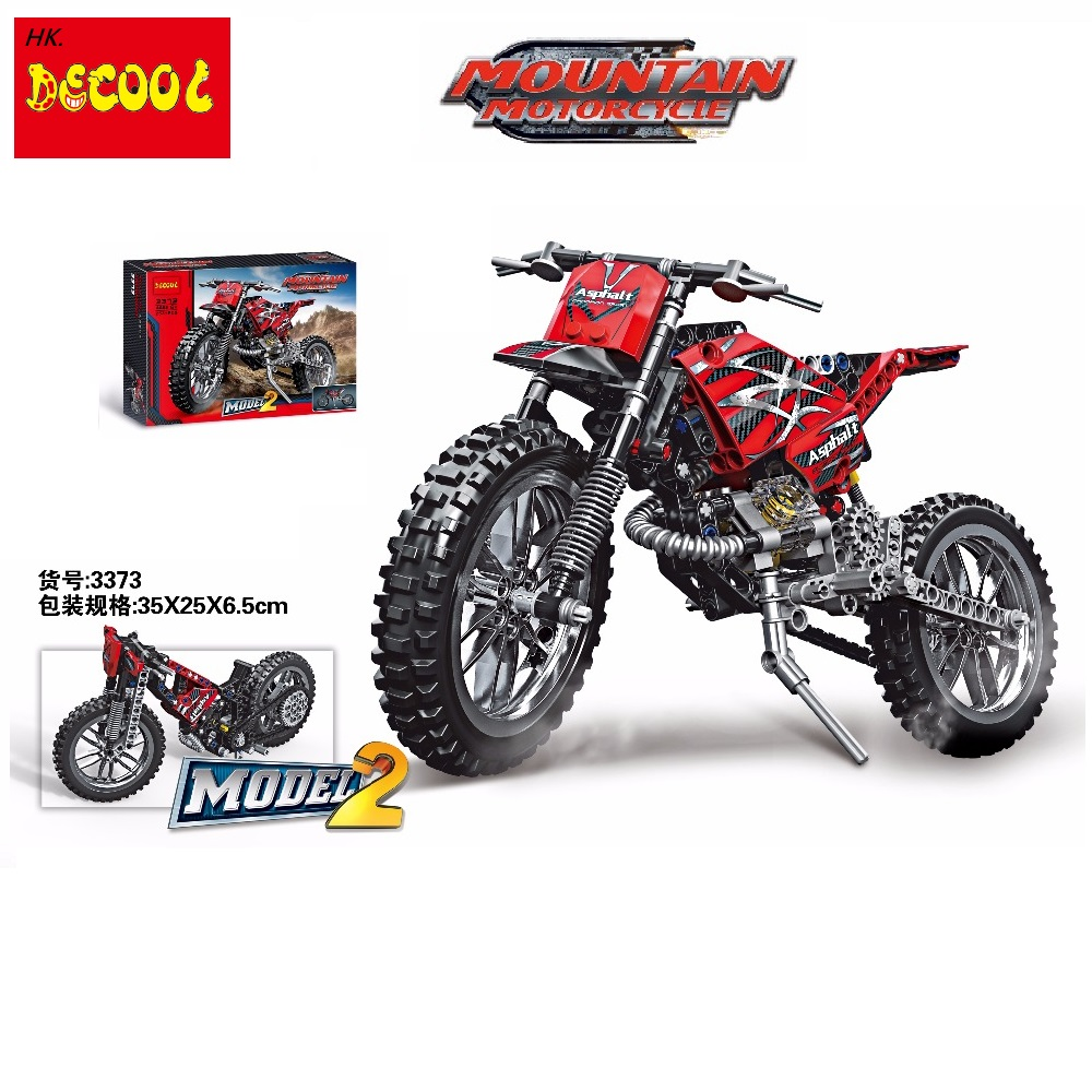 2019 Decool Technic 3373 Motorcycle super car motorbike Building Blocks Set Bricks Classic Model Toys for lego for minifigure decool 3353 3354 lepin technic motorbike motorcycle car building bricks blocks toys for children boy game gift bela 8051