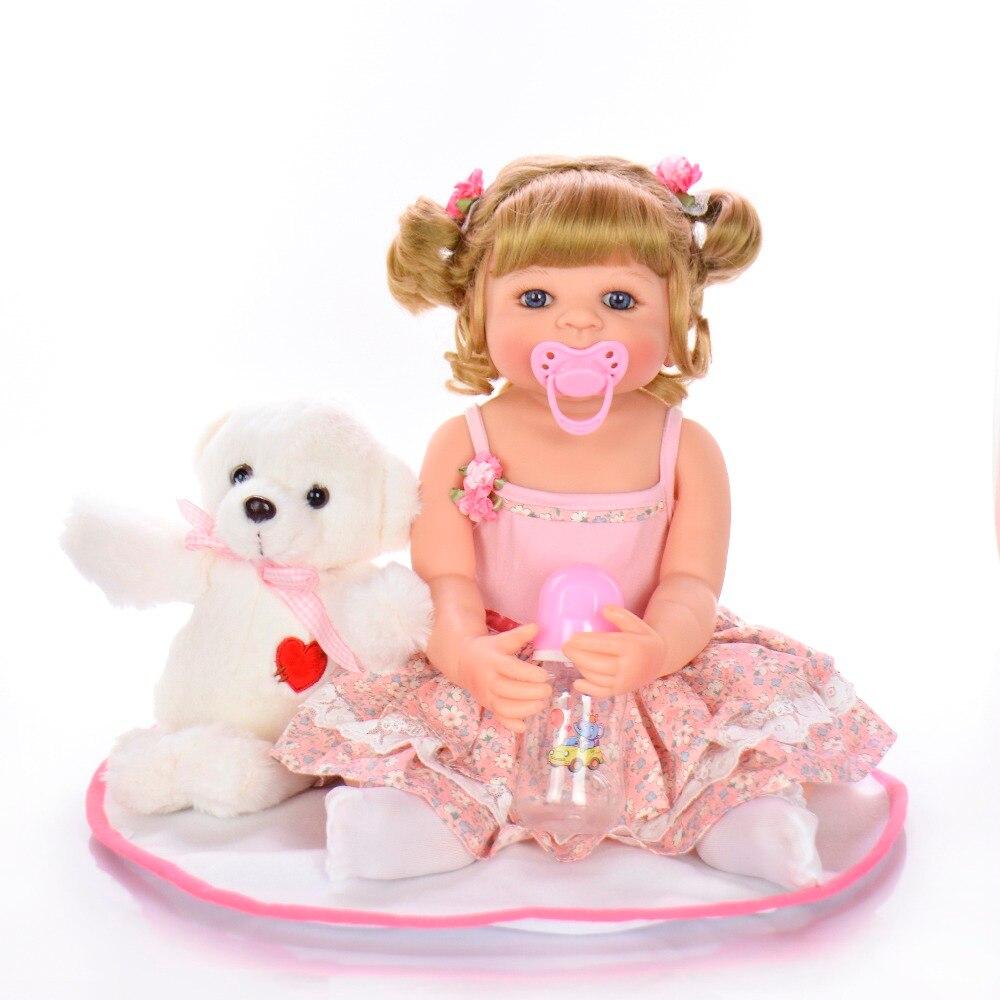 56 cm com corpo de silicone menina Reborn bébé poupées bébé vivant Bebe réaliste Boneca vraie fille poupée lol jouets de bain pour les enfants - 3