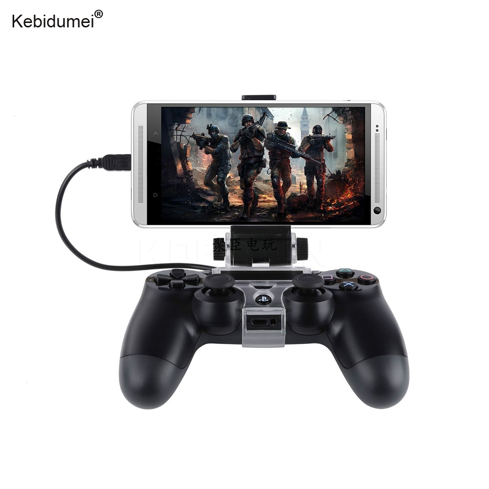 Game Controller Holder Phone Clamp Smart Clip Bracket With OTG Cable For Bluetooth Wireless PS4 DualShock 4 Controller