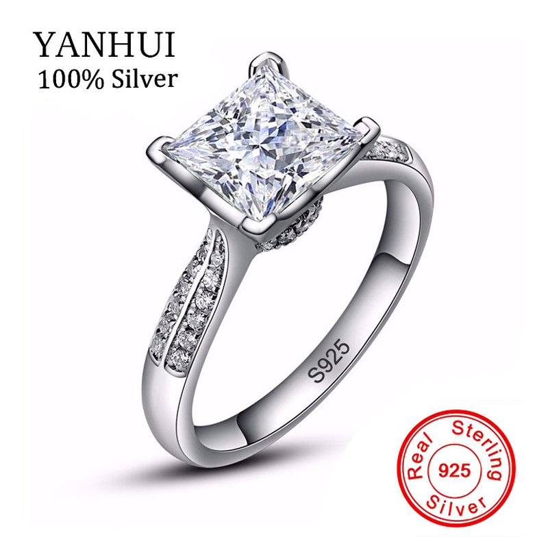 lose money big sale new 100 solid silver ring jewelry 3ct cz diamant engagement rings - Wedding Rings On Sale