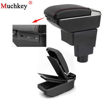 For Ford Ecosport Armrest Box With Usb Car Center Storage Box With Cup Holder Ashtray Stowing Tidying Arm Rest Rotatable