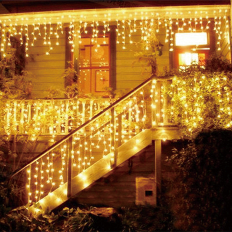 Christmas Garland LED Curtain Icicle String Light 220V Leds Indoor Drop LED Party Garden Stage Outdoor Decorative Light mata bor amplas