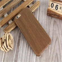 Hot  For iPhone 6 Case Wood Pattern Back Cover Luxury High quality Leather Case For