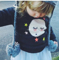 2015 new autumn winter fashion baby pullover kawaii moon stars sweater bobo choses high quality boy and girl's clothing