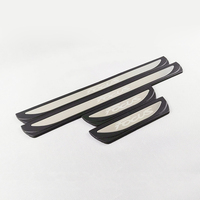 For Tiguan MK2 Hatchback Sedan external Door Sill Scuff Plate Welcome Pedal Stainless Steel Car Styling Accessorie 4pcs