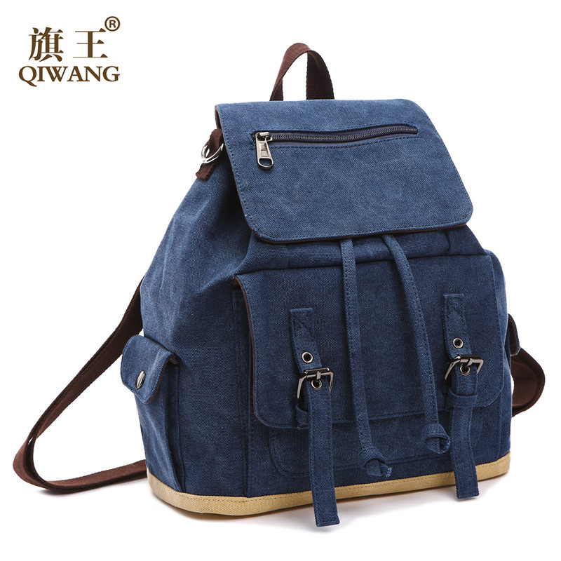 Canvas backpack Women Drawstring School Bags For Teenagers Girls Small Backpack Female Rucksack Mochilas Feminina fashion women leather backpack rucksack travel school bag shoulder bags satchel girls mochila feminina school bags for teenagers