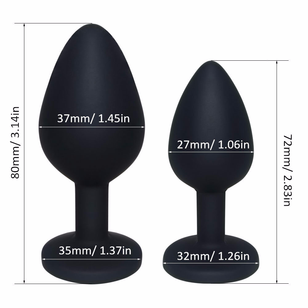 Butt Plug Anal Sex Toys For Women Men Rhinestone Anal Plug Sex Toys Multi Size Anal Butt Plug Massager Adults Erotic Products (6)
