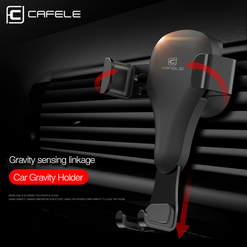 Cafele Car Phone Holder Universal Air Vent Mount Cradle Smart No-Touch Design for iPhone Samsung and Other Smart Cellphone