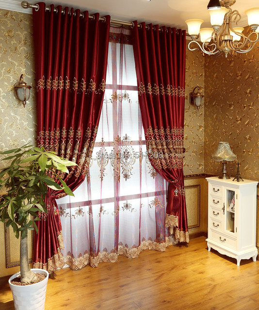 Curtains Ideas curtains double width : Aliexpress.com : Buy Wedding room window curtain double layer ...
