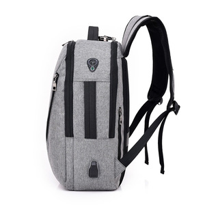 Image 3 - J & Q 2019 Yeni Moda Stil Anti Hırsızlık kilitli çanta Iş rahat sırt çantası Özel Kodlu Kilit USB Şarj Akıllı Fonksiyonel Sırt Çantası