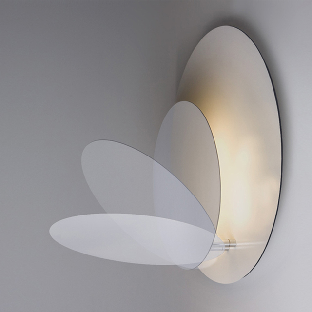 Nordic Eclipse Led Wall Lamp Bedroom Bedside Round Light Stairway Aisle Corridor Backdrop Sconces