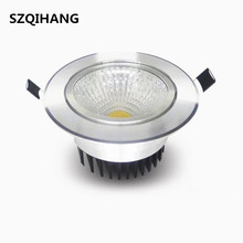 Bright Dimmable led downlight COB Ceiling Spot Lights 7W 10W 12W LED ceiling Recessed lamp  Indoor Lighting 110V  220V