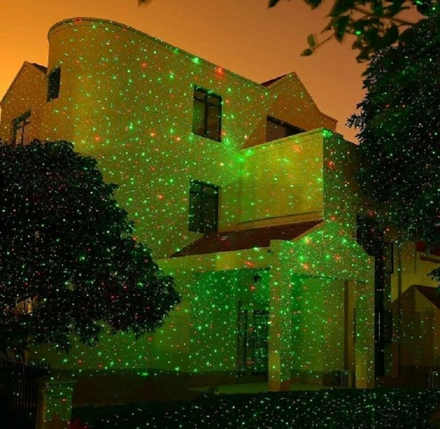 outdoor laser christmas lights projector star red green firefly spotlights garden house yard patio landscape holiday
