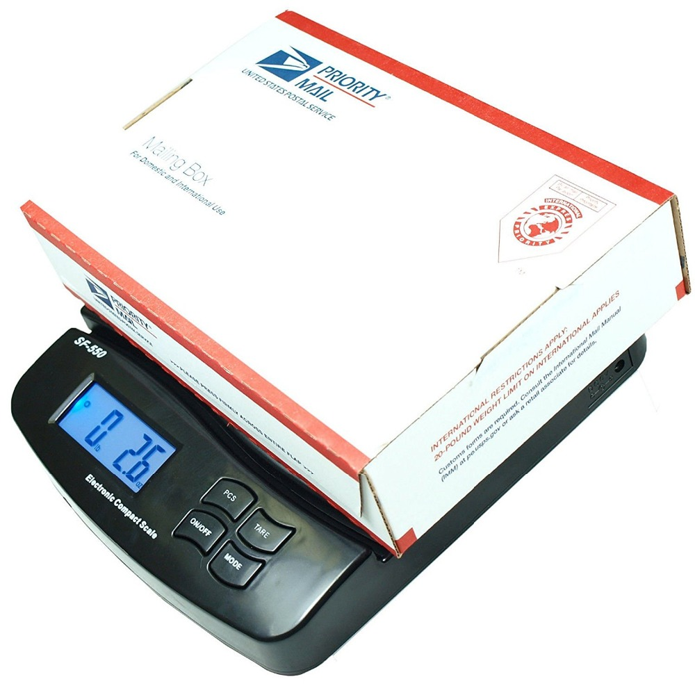 25kg/1g 55lb Digital Postal Shipping Scale Table Top Parcel Letter Postage Weigh Electronic Weighing Scales LCD Back-lit