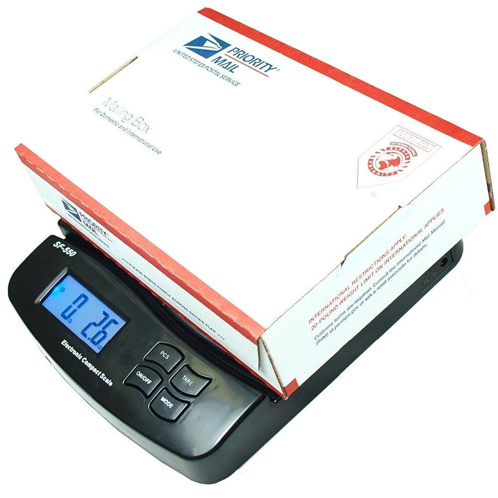 Carta de Encomendas Digital Postal Envio Escala Mesa Porte Pesar Eletrônico Escalas Lcd Retroiluminado 25 kg – 1g 55lb