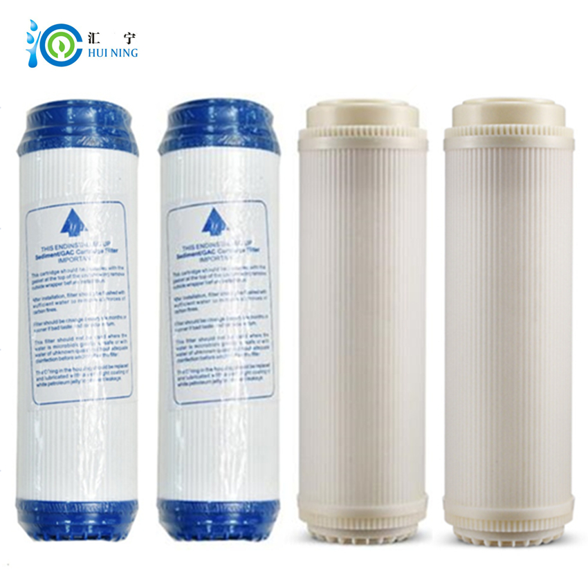 2 pcs udf activated carbon filter and 2 pcs ultrafiltration filter Home water purifier water filter for reverse osmosis system sephora vintage filter палетка теней vintage filter палетка теней