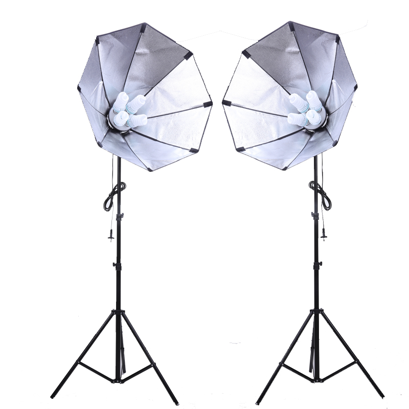 Photo studio kit 2x Nicefoto G801C 2 Studio Flash 50x70cm Softbox Light Stand Kit