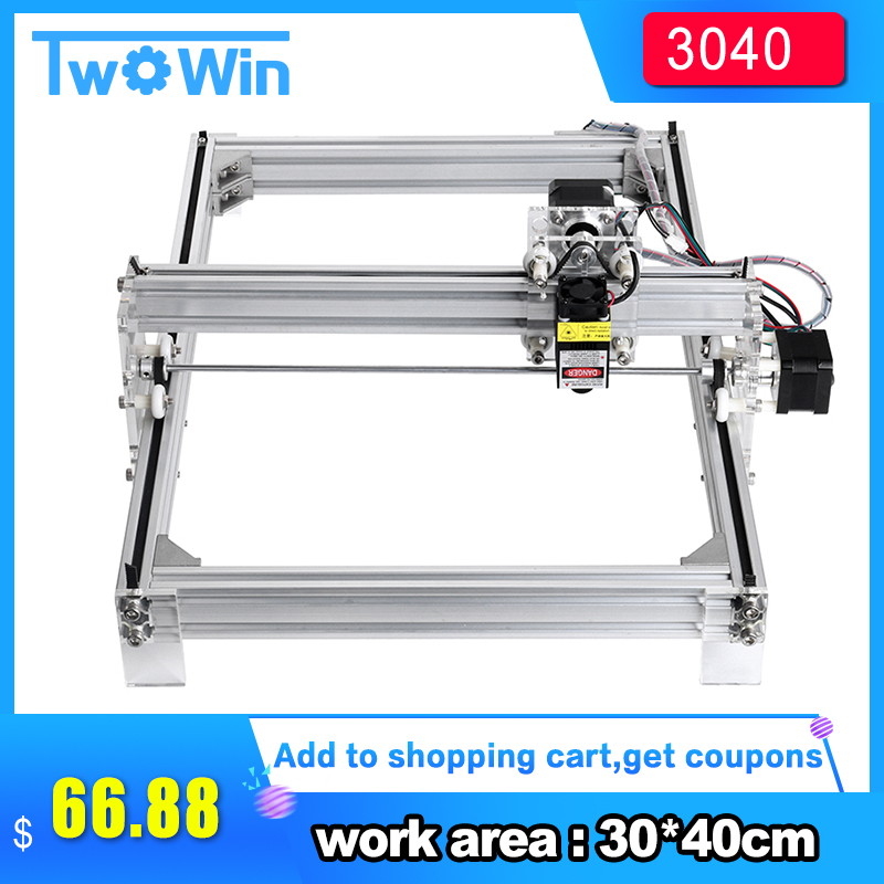 500mw/2500mw/5500mw/7w  Desktop DIY Violet Laser Engraving Machine Picture CNC Printer, Working Area 30cmx40cm