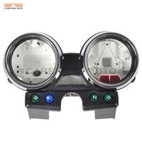 1 Zestaw Chrome Pokrywa Moto Motocykl Prędkościomierza Tach Miernik Miernik Prędkości Shell case dla Kawasaki ER-5 ER5 ER 5 ER500