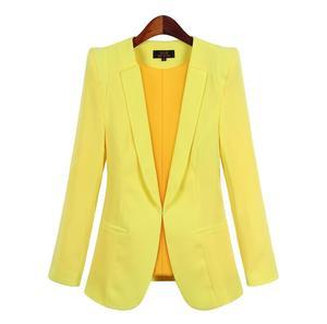Image 4 - 2020 New Plus Size Womens Business Suits Spring Autumn All match women Blazers Jackets Short Slim long sleeve Blazer Women Suit