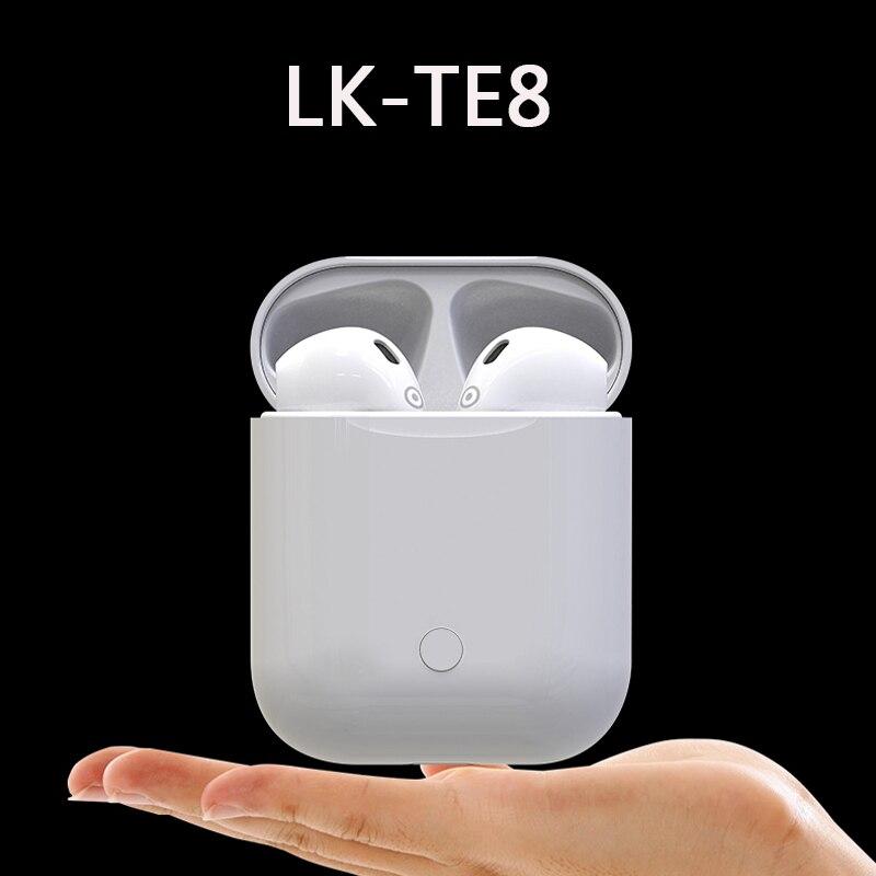 Mini LK-TE8 TWS Touch Typ Bluetooth 5,0 Headset Drahtlose Anrufe Smart Kopfhörer Wireless Charging Für iPhone PK i9s i7s i10 f10