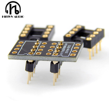 OPA627 LME49710 muses 03 DIP8 single OP AMP conversion double operational amplifier IC chip Gold plated weld Circuit board