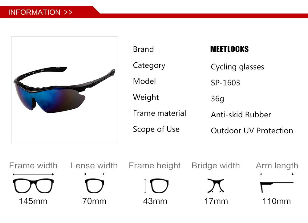 3b570d1634 MEETLOCKS gafas de sol deportivas con lente Anti vaho sol con 3 ...
