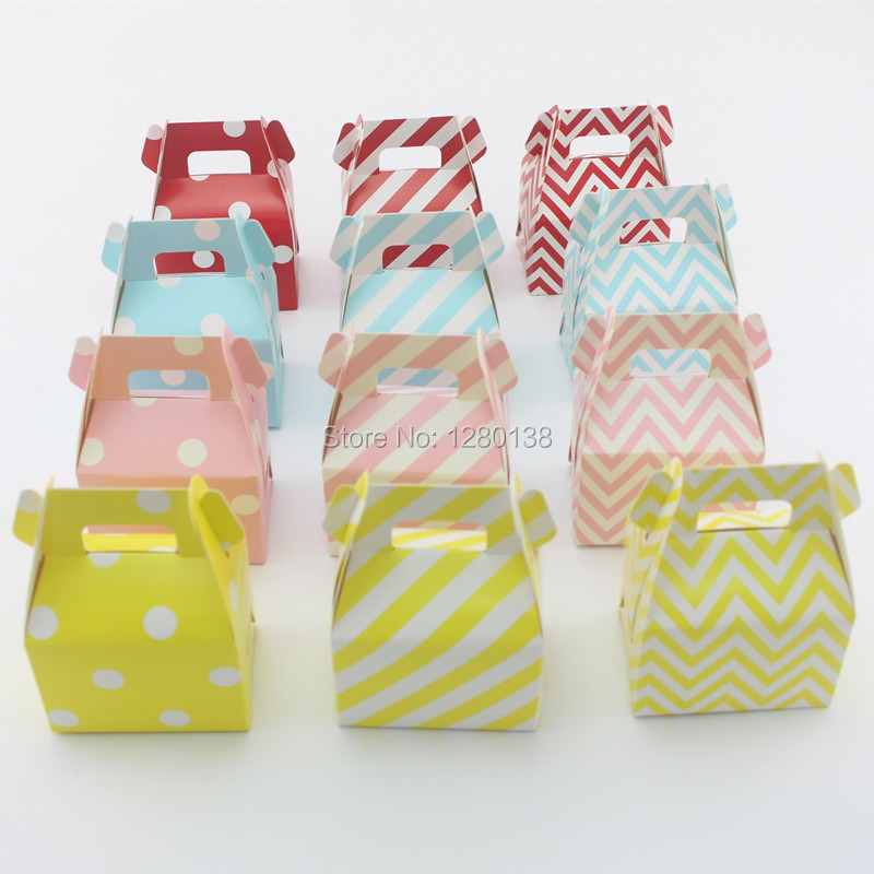 Us 305 9 1920pcs Paper Party Gift Box Wedding Party Favor Deco Candy Food Box Striped Chevron Dot Gable Candy Box On Aliexpress Com Alibaba Group