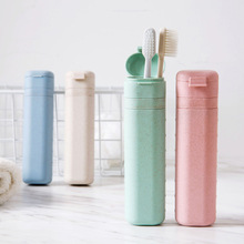 Adjustable length Toothbrush Holder Cap Case Wheat stalks Portable Storage Cup Outdoor