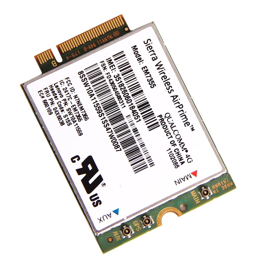 Generic Sierra Gobi5000 EM7355 NGFF Card FRU: 04W3801 Wireless 4G
