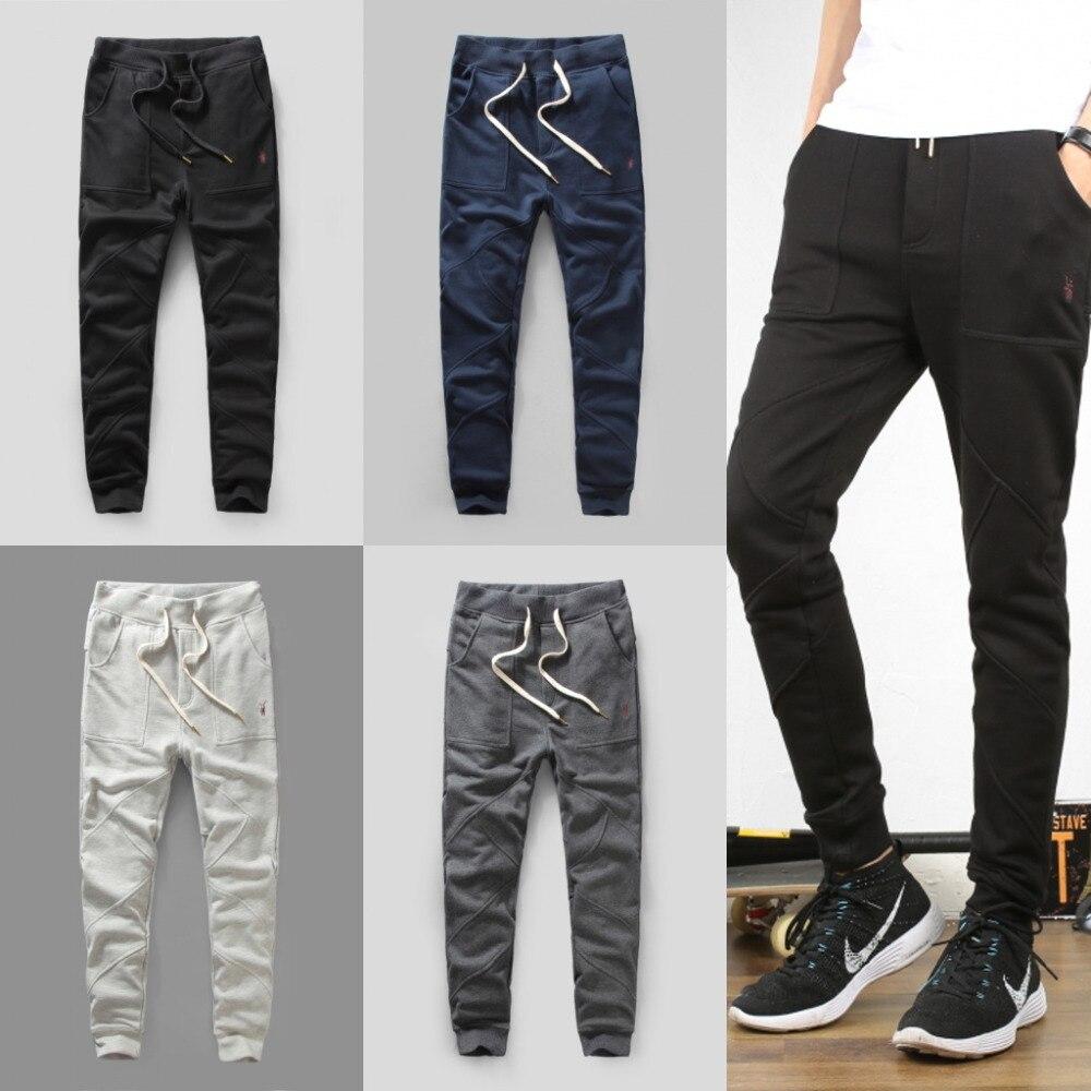 b0d0fdfa0 Solid jogger pants hip hop casual sports sweatpants black & cream & grey &  navy man slim fit trousers fashion tends harem pants