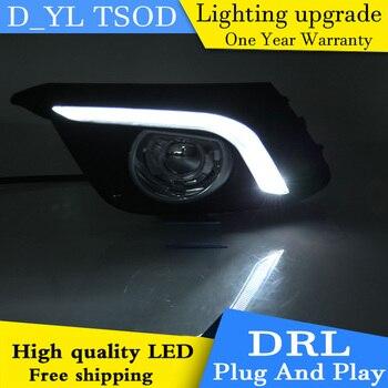 2 Pcs DRL For Mazda 3 Mazda3 Axela 2014 2015 2016 LED DRL Daytime Running Lights Daylight Fog light cover car stylin