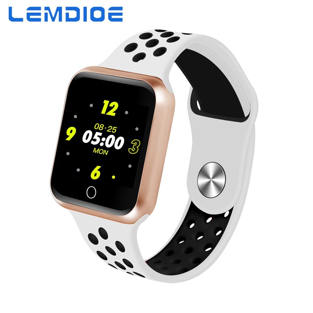 Lemdioe Ios Sensible Watch Males Ladies Android Sensible Watch Sport Modes Bluetooth Ip6 Waterproof Coronary heart Price Monitor Blood Strain