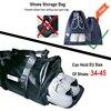 NEWBOLER Gym Bag Leather Women Fitness Shoe Compartment Men Duffle Shoulder Bags Waterproof Travel Training Large Sport Handbag  1