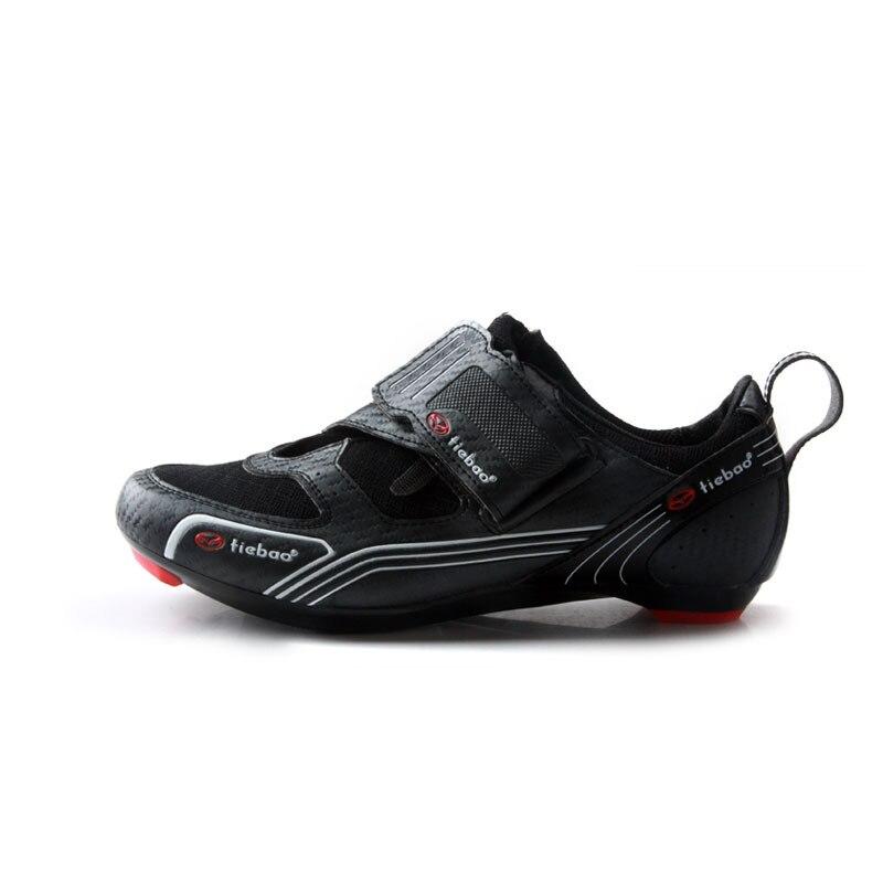 Tiebao nuevos hombres bicicleta de carretera bicicleta Zapatos Anti-slip transpirable Zapatos de Ciclismo de triatlón Atlético Zapatos de deporte Zapatos de bicicleta - 2