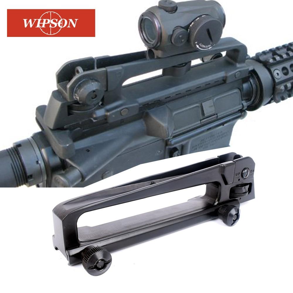 Wipson picatinny ferroviário destacável levar alça de montagem base vista traseira com ver através do ajuste ar 15