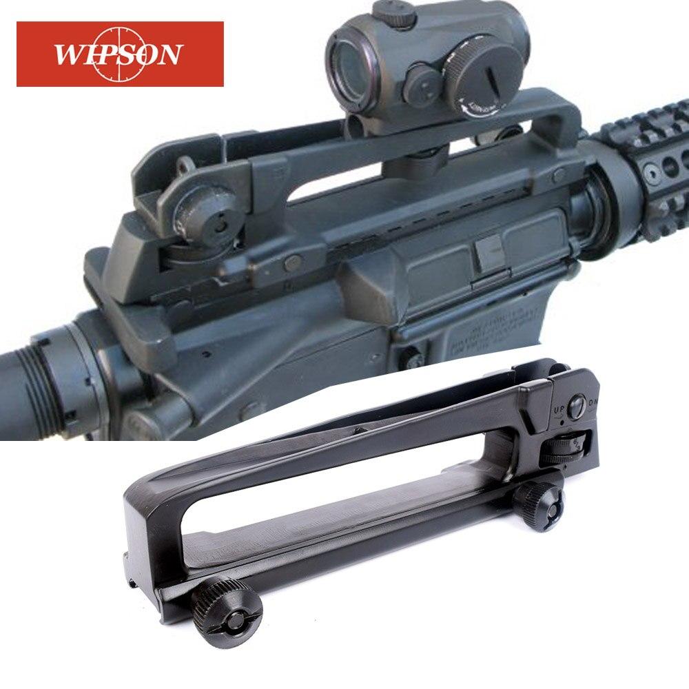 WIPSON Destacável Carry Handle Mount Base de picatinny rail Visão Traseira Com Ver Através de fit ar 15