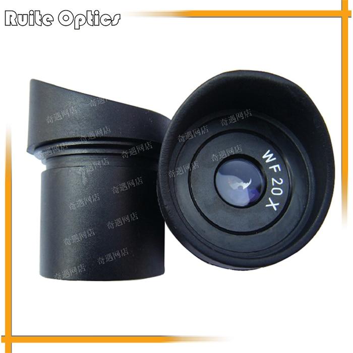 WF20X/10mm Microscope stéréo grand Angle oculaire lentille optique avec taille de montage 30.5mm