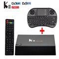 DVB-T2 DVB-S2/T2 S905 KII Pro Android 5.1 Caixa De Tv Amlogic 2 GB/16 GB Media Player Wi-fi inteligente UHD 4 K 2 K com i8 Teclado Sem Fio