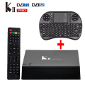 DVB-T2 DVB-S2/T2 S905 KII Pro Android 5.1 Tv Box Amlogic 2 GB/16 GB Smart Media Player WiFi UHD 4 K 2 K con Teclado Sin Hilos i8