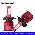Ironwalls H4 Hi-lo Haz H7 H11 H13 9005 9006 Virutas DEL CREE SMD 80 W LED 9600lm 6500 K Auto Luz de Niebla de la Linterna Del Coche Del Bulbo 12 V